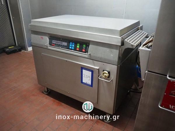 μηχανήματα συσκευασίας τροφίμων τύπου καμπάναςγια την αλλαντοποιία, την επεξεργασία κρέατος, την αλλαντοποιϊα και τα αλιεύματα, από την Τηλέμαχος Κατσέλης