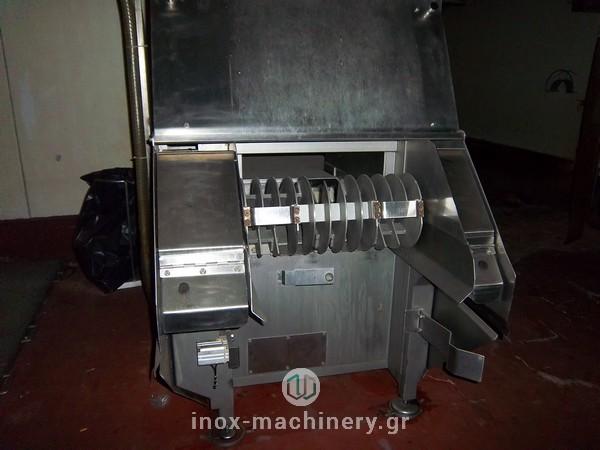 κοπτικό μηχάνημα για την επεξεργασία παγωμένου κρέατος τύπου flaker από την inox machinery στην Αθήνα