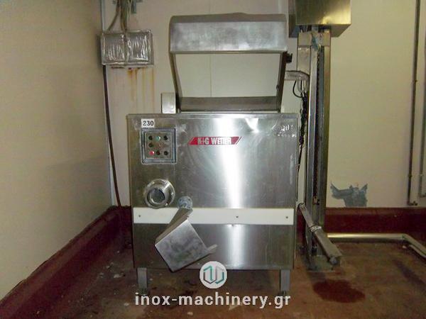 κοπτικές μηχανές κιμά για την επεξεργασία κρέατος από την Inox Machinery Τηλέμαχος Κατσέλης στις Αχαρνές
