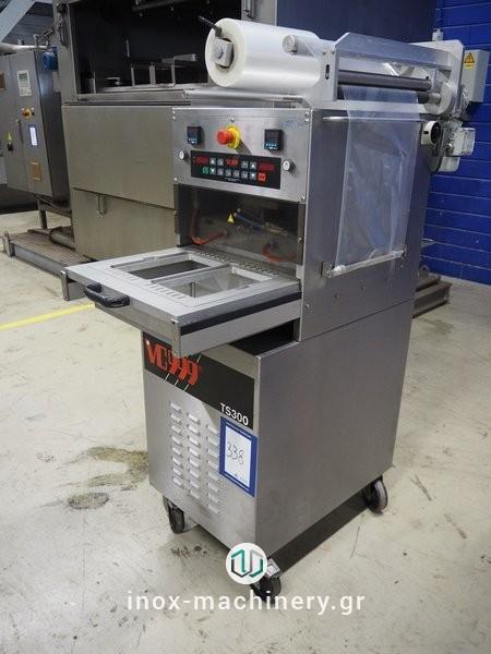 μεταχειρισμένες μηχανές συσκευασίας για την βιομηχανία τροφίμων τύπου traysealer από την inox-machinery, Τηλέμαχος Κατσέλης στην Αθήνα
