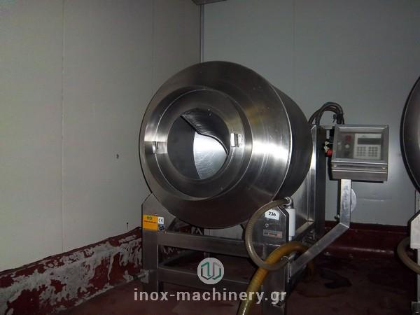 βαρέλα μάλαξης κρέατος henneken για τις μονάδες επεξεργασίας κρέατος και αλλαντικών από την inoxmachinery Τηλέμαχος Κατσέλης στην Αθήνα