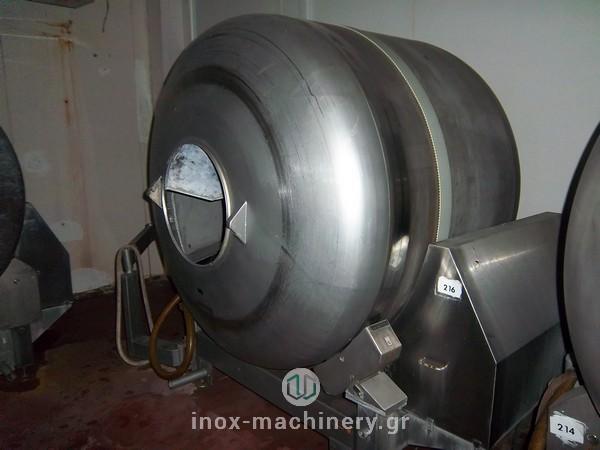 βαρέλες μάλαξης κρέατος από την εταιρία μηχανημάτων για την βιομηχανία τροφίμων InoxMachinery, Τηλέμαχος Κατσέλης στην Αθήνα
