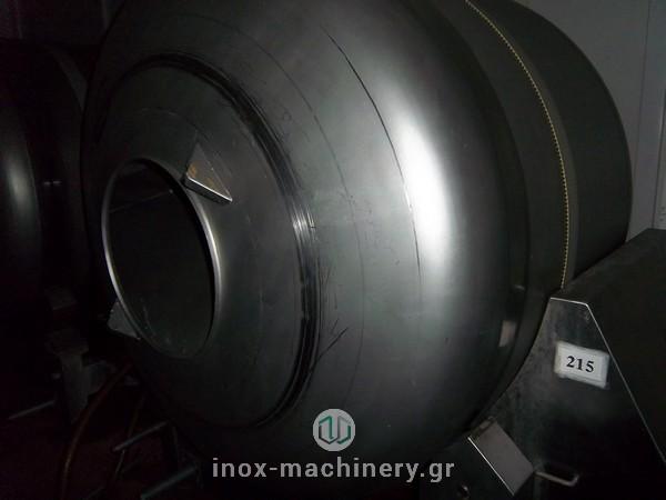 βαρέλα μάλαξης για κρέας από την εταιρία μηχανημάτων για την βιομηχανία τροφίμων InoxMachinery, Τηλέμαχος Κατσέλης στην Αθήνα
