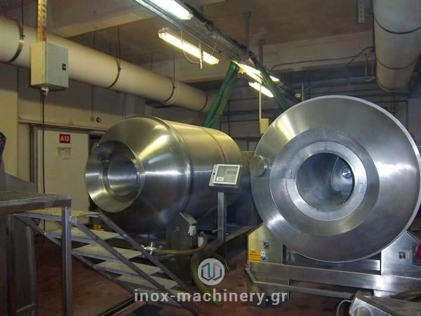 βαρέλες μάλαξης κρέατος από την εταιρία μηχανημάτων για την βιομηχανία τροφίμων InoxMachinery, Τηλέμαχος Κατσέλης στην Αθήνα, henneken