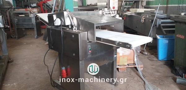 μηχάνημα φιλεταρίσματος για γύρο, σουβλάκια από την inox-machinery, Τηλέμαχος Κατσέλης στην Αθήνα